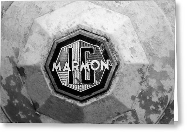 1932 Marmon Sixteen Lebaron Victoria Coupe Emblem Greeting Card