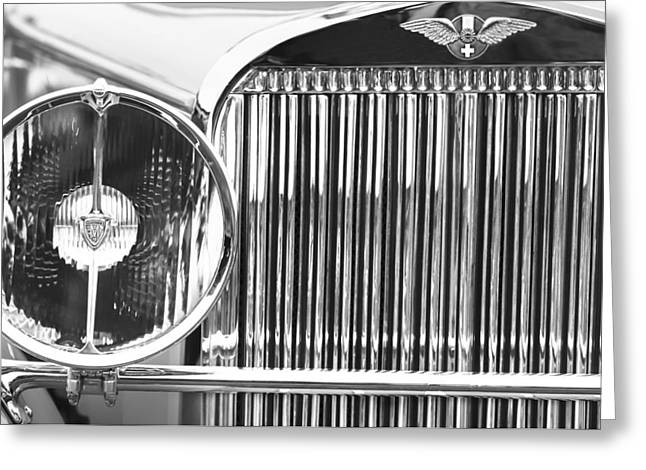1933 Hispano-suiza J12 Vanvooren Coupe Grille Emblem Greeting Card