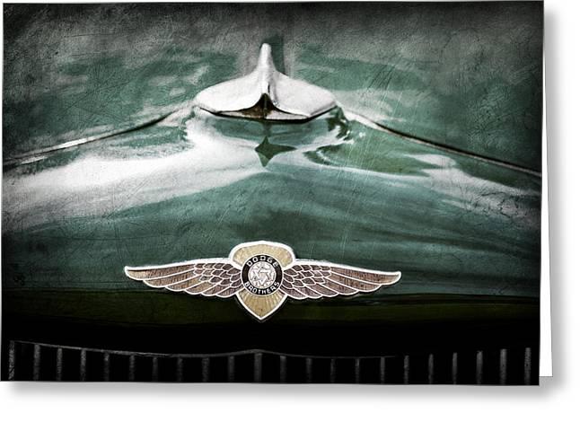 1934 Dodge Emblem Greeting Card