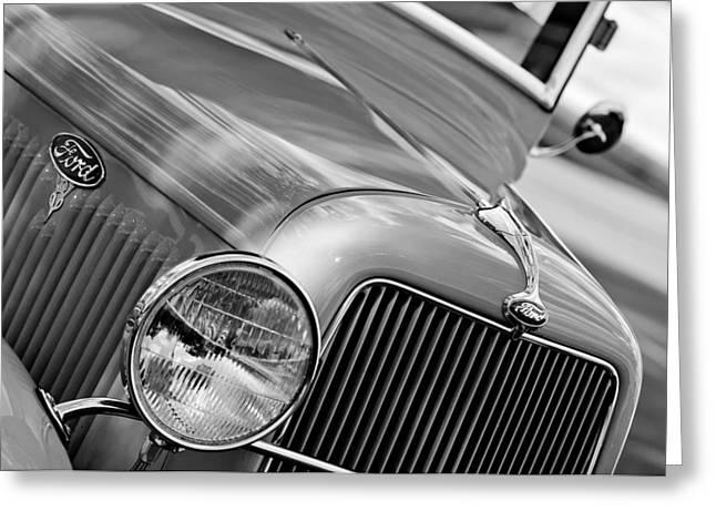 1934 Ford V8 Grille - Emblem Greeting Card