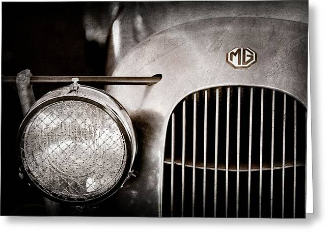 1934 Mg Pa Midget Supercharged Special Speedster Grille - Emblem Greeting Card by Jill Reger
