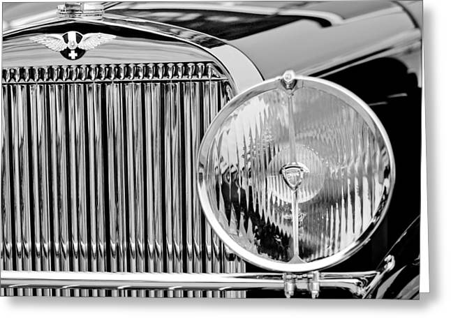 1936 Hispano-suiza J12 Saoutchik Cabriolet Grille Emblem Greeting Card by Jill Reger
