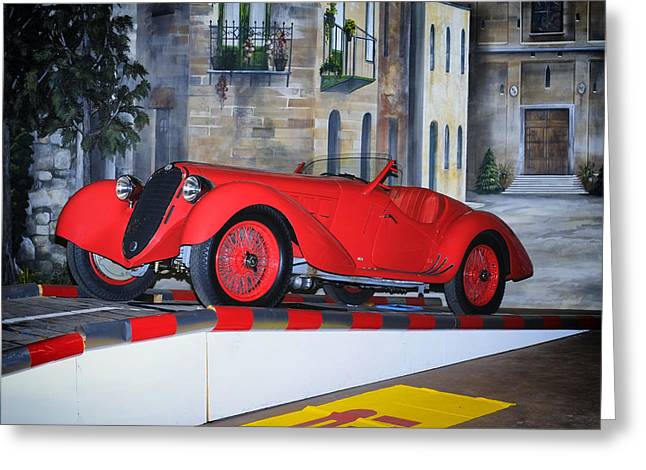1937 Alfa Romeo 8c 2900a Greeting Card