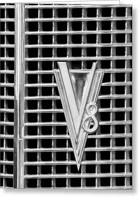 1937 Lasalle V8 Emblem Greeting Card by Jill Reger