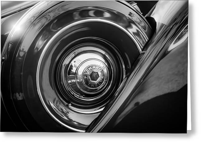 1937 Packard 1508 Dietrich Convertible Sedan Spare Tire Greeting Card