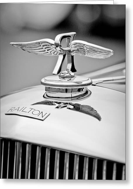 1937 Railton Rippon Brothers Special Limousine Hood Ornament Greeting Card by Jill Reger