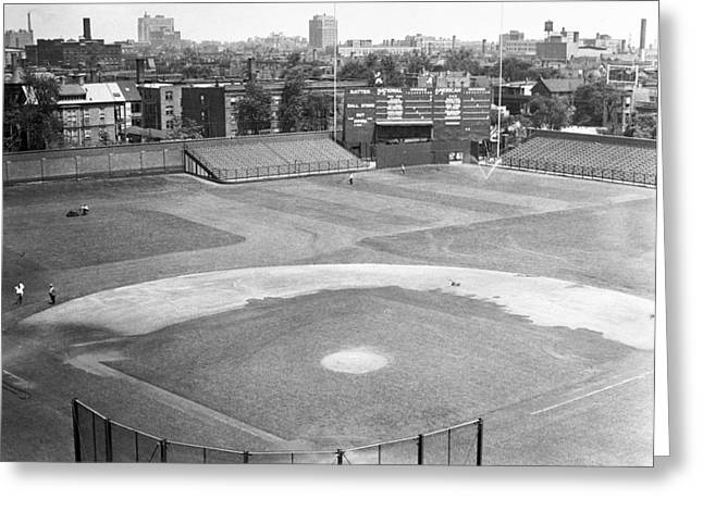 1937 Wrigley Field Scoreboard Greeting Card by Retro Images Archive