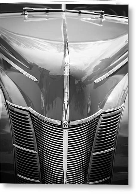 1940 Ford Deluxe Coupe Grille Greeting Card by Jill Reger