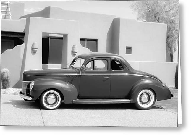 1940 Ford Deluxe Coupe Greeting Card by Jill Reger