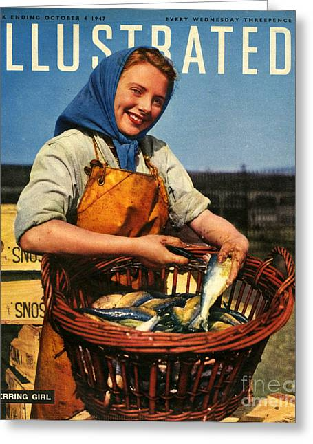 1940s Uk Illustrated Magazine Cover Greeting Card by The Advertising Archives