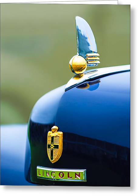 1942 Lincoln Continental Cabriolet Hood Ornament - Emblem Greeting Card by Jill Reger