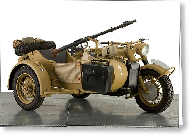 1943 Bmw 750cc R7 Africa Corps Military Greeting Card by Panoramic Images