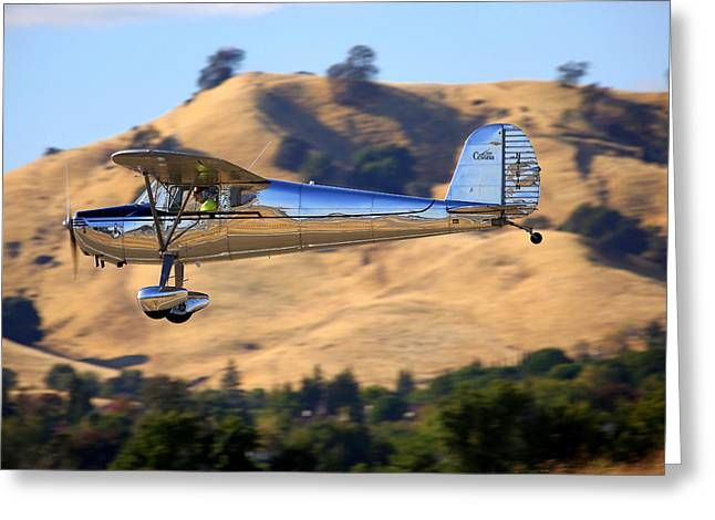 1947 Cessna 140 Fly-by N4151n Greeting Card