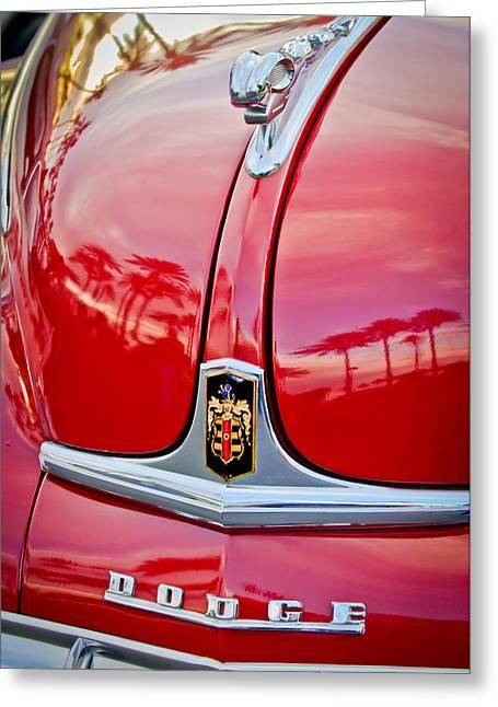 1948 Dodge Ram Hood Ornament Greeting Card by Jill Reger