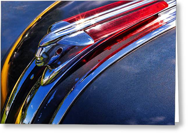1948 Pontiac Silver Streak Hood Ornament Greeting Card