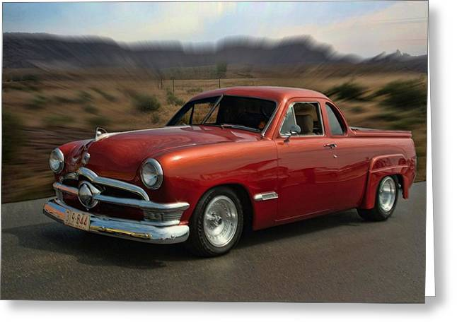 1950 Australian Ford Ute  Greeting Card by Tim McCullough