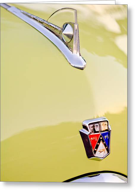 1950 Ford Hood Ornament - Emblem Greeting Card by Jill Reger