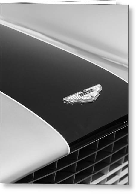 1951 Aston Martin Db2 Coupe Hood Emblem Greeting Card by Jill Reger