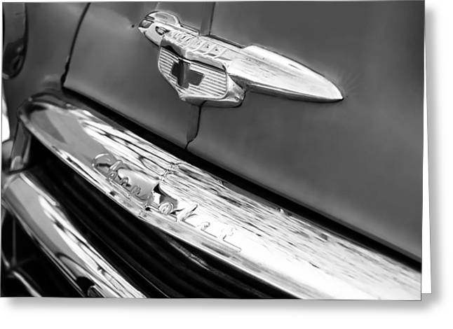 1951 Chevrolet Style Deluxe Grille Emblem Greeting Card