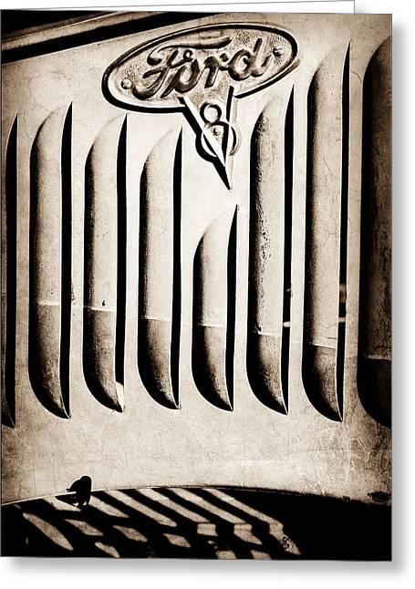 1951 Mercury Custom Emblem Greeting Card by Jill Reger