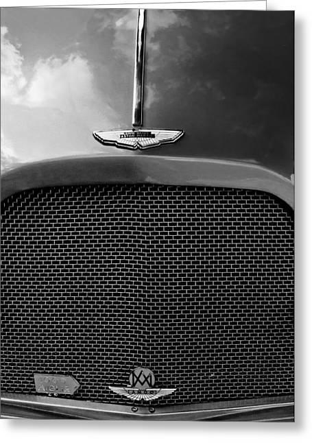 1952 Aston Martin Db2 Grille Emblem Greeting Card