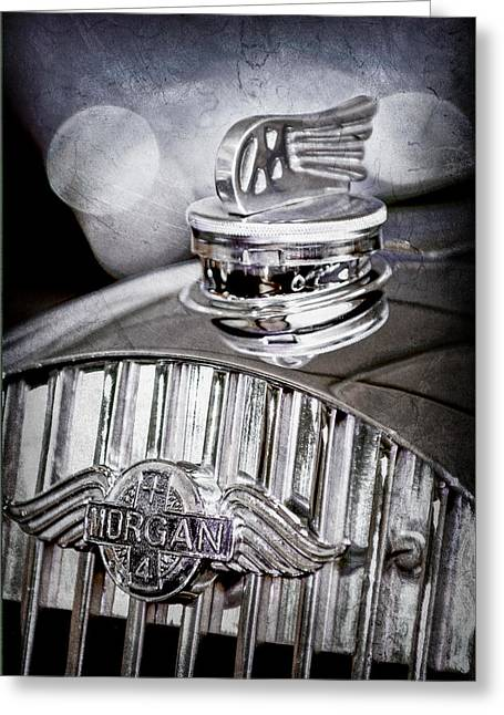 1952 Morgan Plus 4 Hood Ornament - Emblem Greeting Card