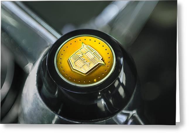 1952 Nash Rambler Greenbrier Station Wagon Steering Wheel Emblem Greeting Card by Jill Reger