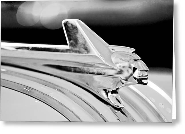 1952 Pontiac Chieftain Hood Ornament Greeting Card by Jill Reger