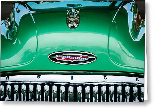 1953 Buick Hood Ornament - Emblem Greeting Card by Jill Reger