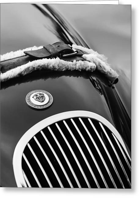 1953 Jaguar Xk 120se Roadster Grille Emblem Greeting Card