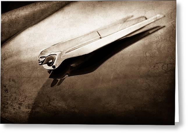 1954 Cadillac Deville Hood Ornament Greeting Card