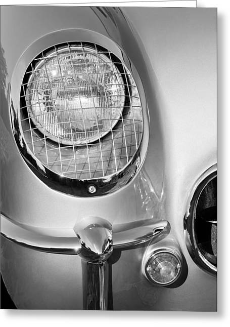 1954 Chevrolet Corvette Headlight Greeting Card by Jill Reger