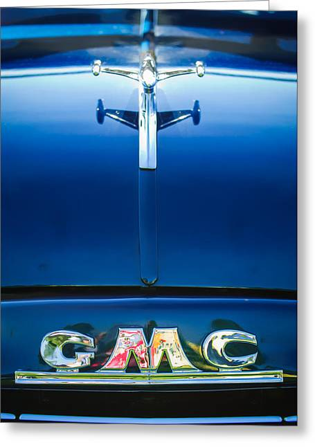 1954 Gmc Pickup Truck Hood Ornament - Emblem Greeting Card