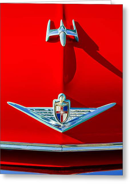 1954 Lincoln Capri Hood Ornament Greeting Card