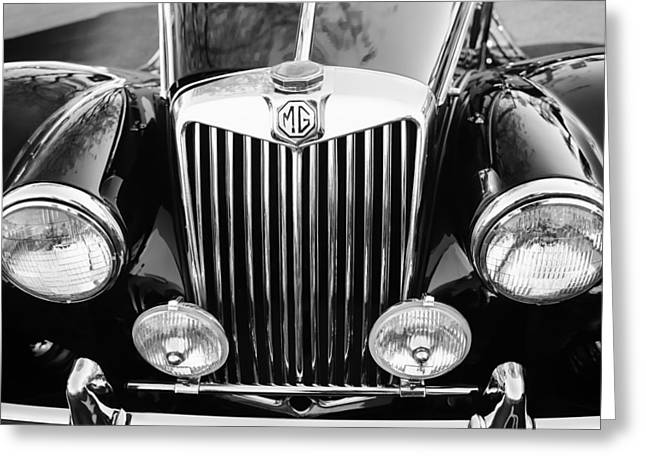 1954 Mg Tf Grille Emblem Greeting Card