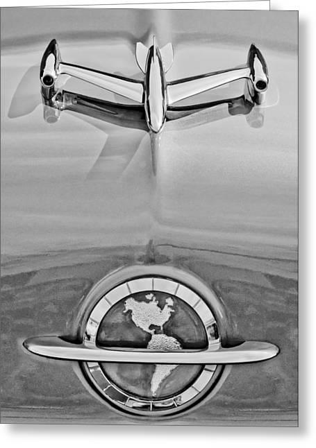 1954 Oldsmobile Super 88 Hood Ornament Greeting Card by Jill Reger