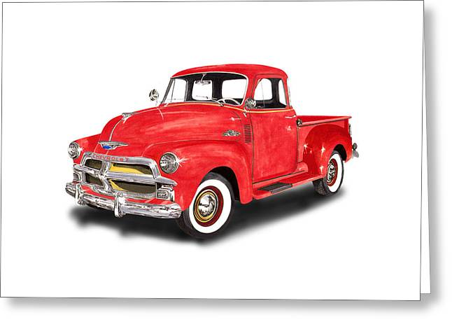 1955 Chevrolet 3100 Pick Up Truck Greeting Card