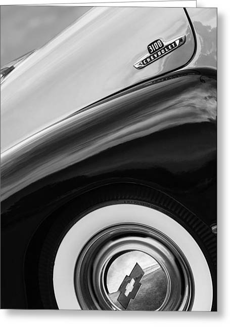 1955 Chevrolet 3100 Pickup Truck Emblem Greeting Card