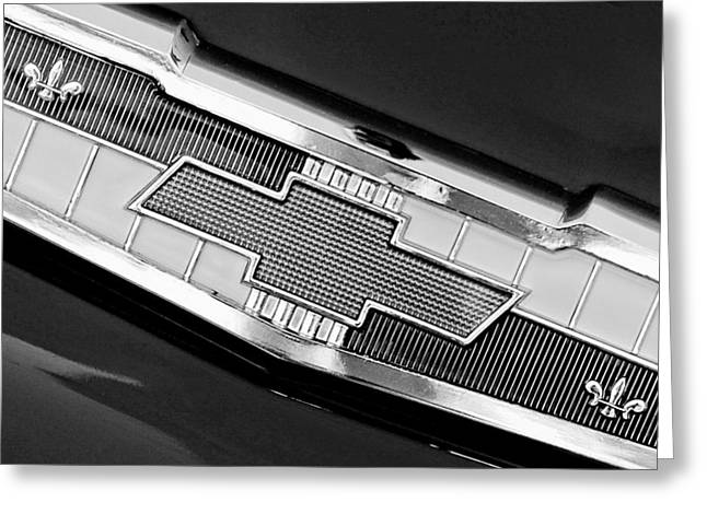 1955 Chevrolet Belair Nomad Emblem Greeting Card by Jill Reger
