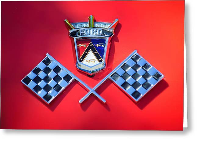 1955 Ford Thunderbird Emblem Greeting Card by Jill Reger
