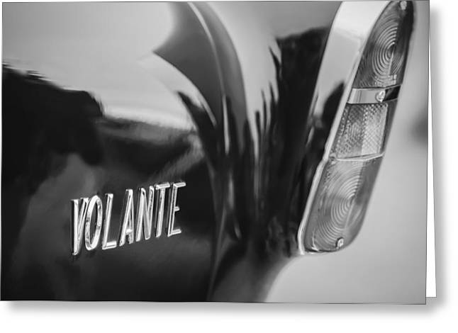1956 Aston Martin Short Chassis Volante Taillight Emblem Greeting Card by Jill Reger