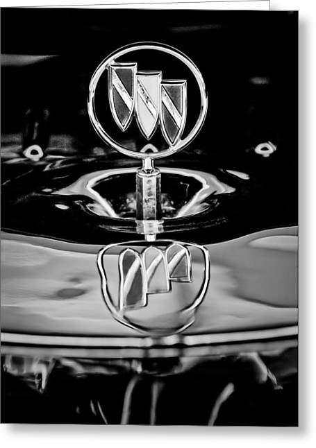 1956 Buick Special Hood Ornament Greeting Card by Jill Reger
