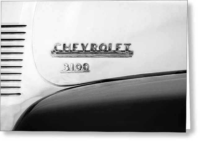 1956 Chevrolet 3100 Pickup Truck Emblem Greeting Card