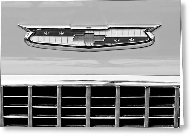 1956 Chevrolet Belair Nomad Grille Emblem Greeting Card