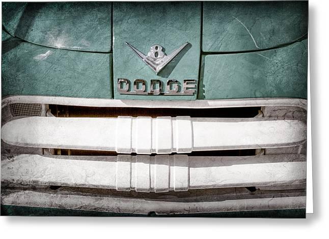 1956 Dodge Pickup Grille Emblem Greeting Card by Jill Reger