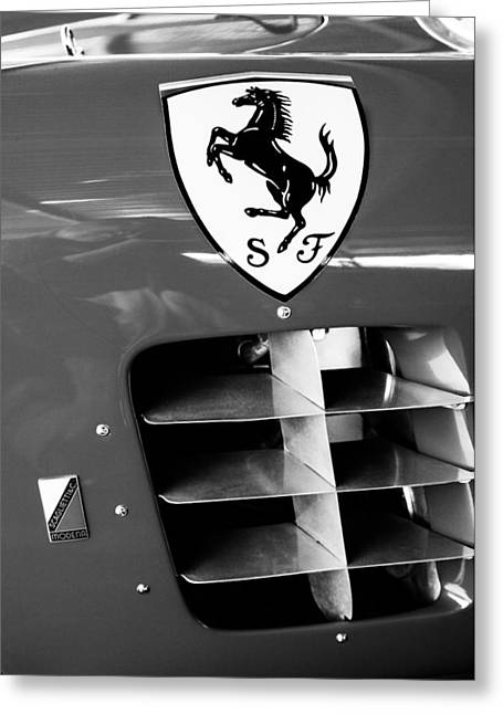 1956 Ferrari 500 Tr Testa Rossa Side Emblem Greeting Card