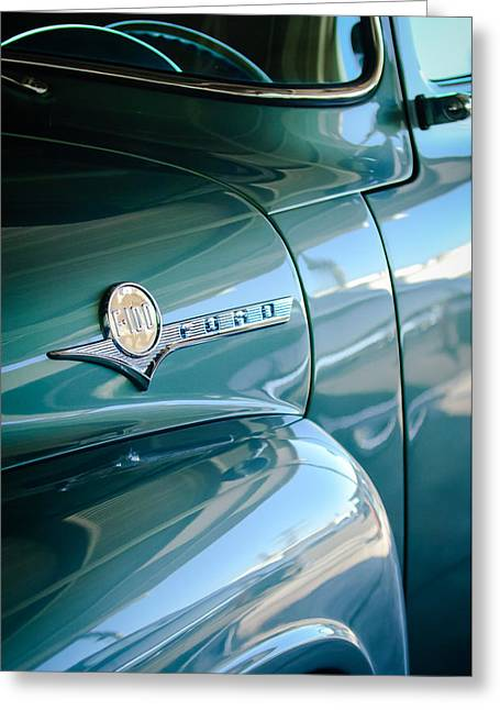 1956 Ford F-100 Truck Emblem Greeting Card by Jill Reger