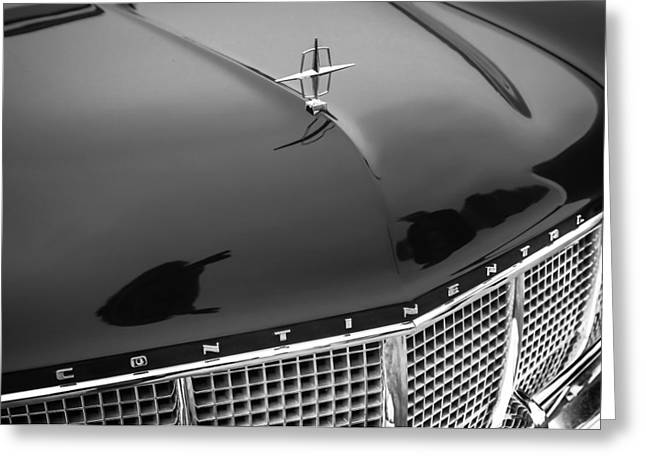 1956 Lincoln Continental Mark II Hess And Eisenhardt Convertible Grille Emblem - Hood Ornament Greeting Card