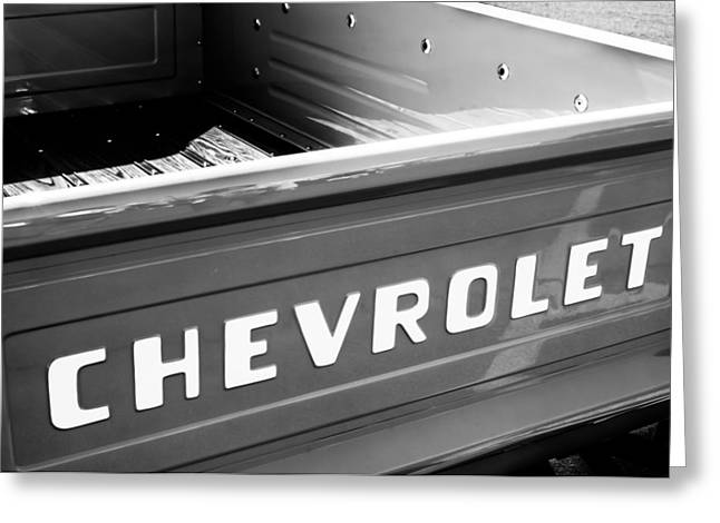 1957 Chevrolet Pickup Truck Emblem Greeting Card