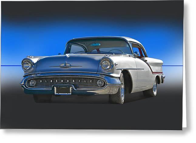 1957 Custom Oldsmobile Greeting Card by Dave Koontz